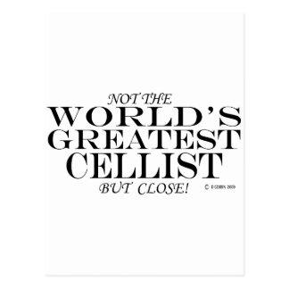 Greatest Cellist Close Postcard