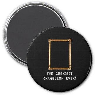 Greatest Chameleon 3 Inch Round Magnet