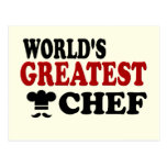 GREATEST CHEF POST CARD