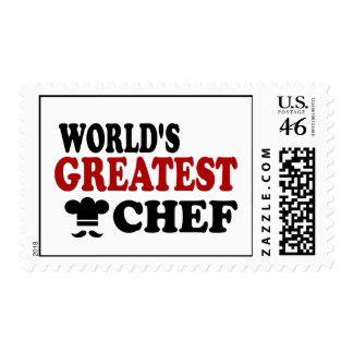 GREATEST CHEF POSTAGE STAMPS