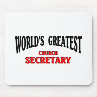 Greatest Church Secretary Mouse Pad