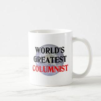 Greatest Columnist Classic White Coffee Mug
