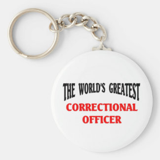 Greatest Correctional Officer Basic Round Button Keychain