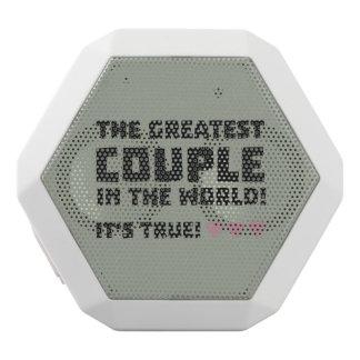 Greatest Couple in the world  Z5rz0 White Bluetooth Speaker