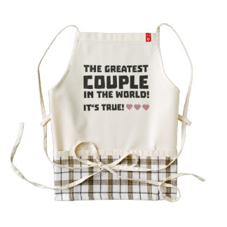 Greatest Couple in the world  Z5rz0 Zazzle HEART Apron