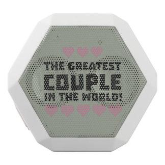 Greatest Couple Love Zg5qi White Bluetooth Speaker