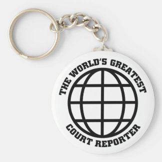 Greatest Court Reporter Basic Round Button Keychain