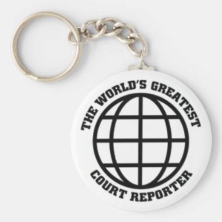 Greatest Court Reporter Keychain