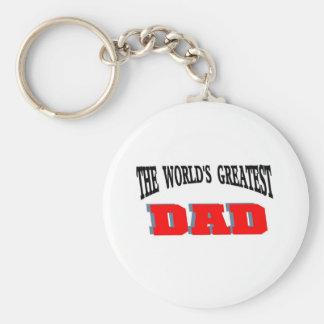Greatest dad basic round button keychain