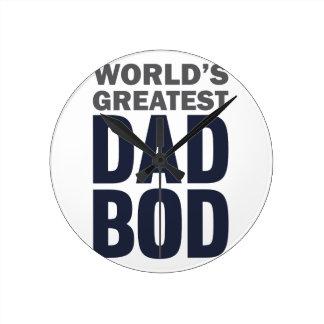 Greatest Dad Bod Round Clock
