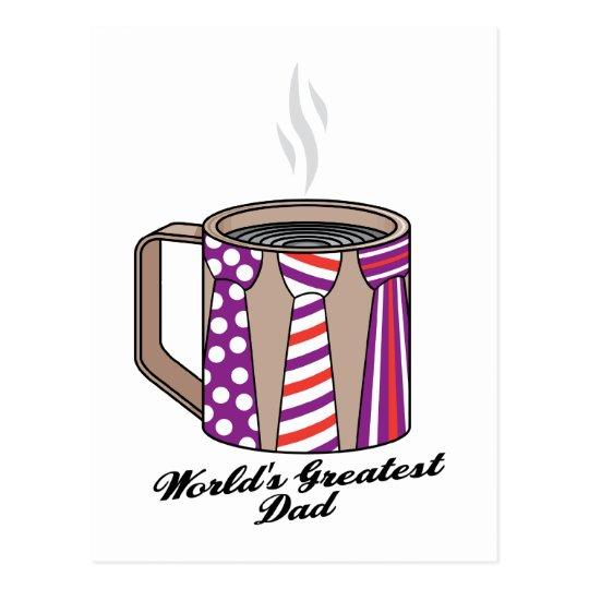 Greatest Dad Coffee Postcard