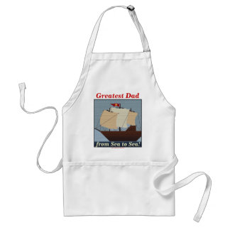 GREATEST DAD FROM SEA TO SEA! ADULT APRON