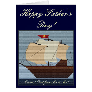 GREATEST DAD FROM SEA TO SEA GREETING CARD
