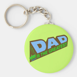 Greatest Dad Gifts For Him Basic Round Button Keychain
