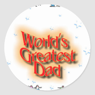 greatest dad.psf.jpeg classic round sticker