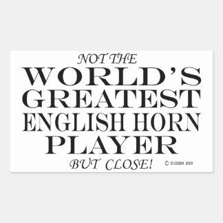 Greatest English Horn Player Close Rectangular Sticker
