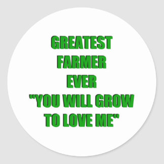 Greatest Farmer Ever Classic Round Sticker