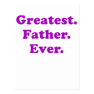 Greatest Father Ever Postcard