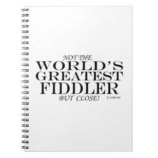 Greatest Fiddler Close Notebooks