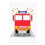 Greatest Firefighter Stationery Paper