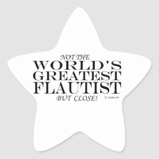 Greatest Flautist Close Star Sticker