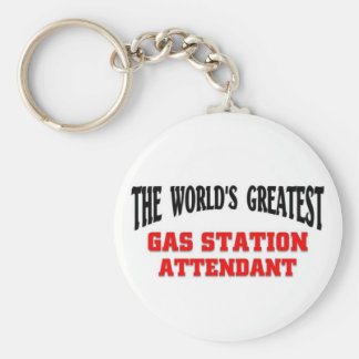 Greatest Gas Station Attendant Keychain