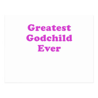 Greatest Godchild Ever Postcard