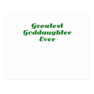 Greatest Goddaughter Ever Postcard