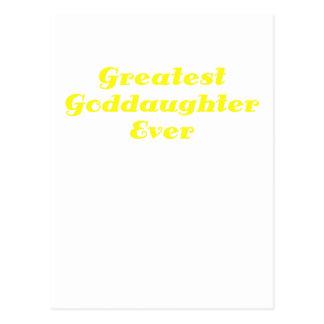 Greatest Goddaughter Ever Postcards