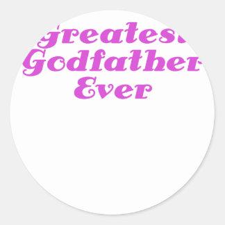 Greatest Godfather Ever Classic Round Sticker