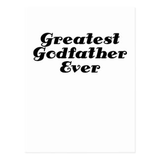 Greatest Godfather Ever Postcard