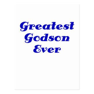 Greatest Godson Ever Postcard