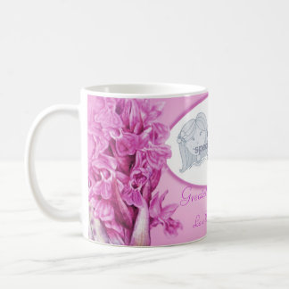 "Greatest Grandma pink orchid ""own photo"" mug"