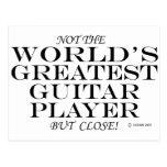 Greatest Guitar Player Close Postcard
