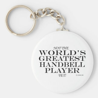 Greatest Handbell Player Yet Basic Round Button Keychain