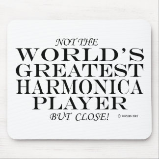 Greatest Harmonica Player Close Mouse Pad