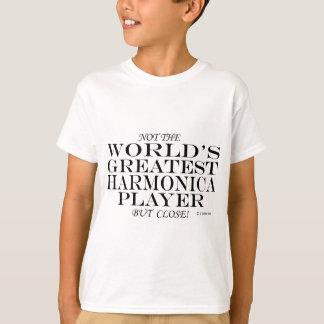 Greatest Harmonica Player Close T-Shirt