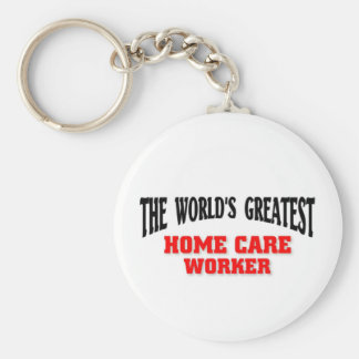 Greatest Home Care worker Keychain