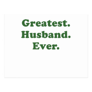 Greatest Husband Ever Postcard