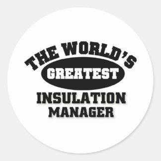 Greatest Insulation Manager Classic Round Sticker
