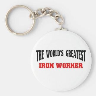 Greatest Iron Worker Basic Round Button Keychain