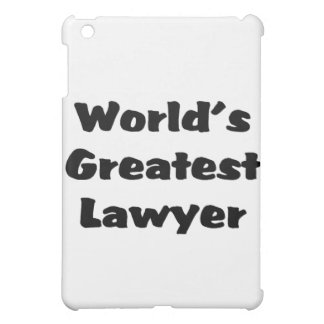 Greatest Lawyer iPad Mini Case