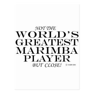 Greatest Marimba Player Close Postcard
