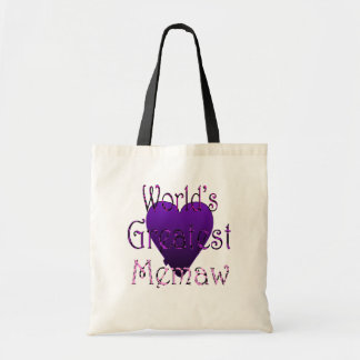 greatest memaw canvas bags