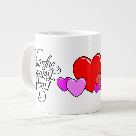 Greatest Mom Heart Large cup