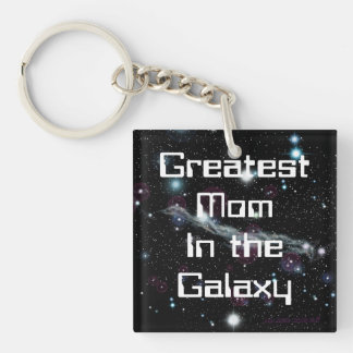 Greatest Mom In The Galaxy Square Keychain