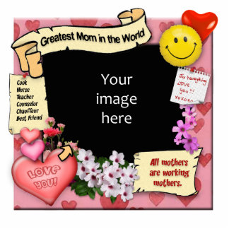 Greatest Mom Photo-Frame Standing Photo Sculpture