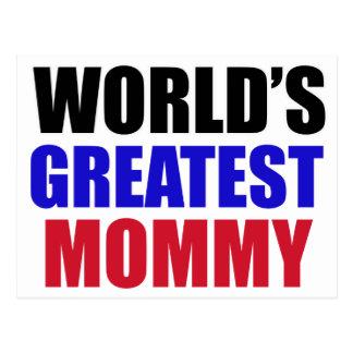 greatest  mommy design postcard