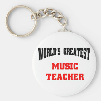 Greatest Music Teacher Keychain