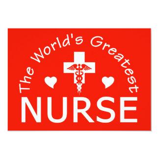 Greatest Nurse invitation, customize Card